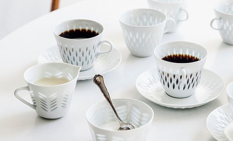 Cherished coffee set by Arabia